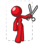 Clip Art Graphic of a Red Guy Character