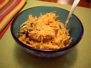 Spaghetti Squash with Chicken
